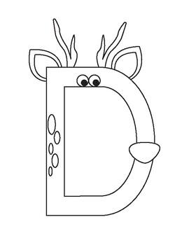 Inspired by Zoo Phonics, Letter of the Day: D is for Deer