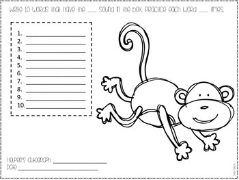 Zoo Your Homework! A Zoo Themed Homework Packet by Simply