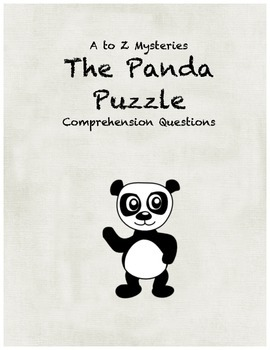 a to z mysteries The Panda Puzzle comprehension Questions