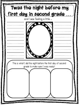 back to school activities second grade by Fun in 1st and