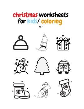 Christmas Worksheets For Kids/ Coloring Pdf : Christmas
