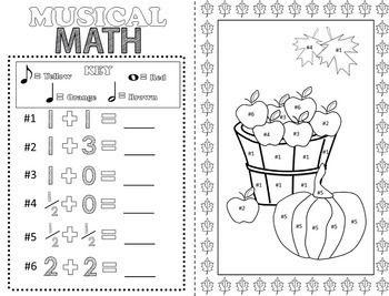 Music Coloring Pages (16 Fall Music Coloring Sheets) by