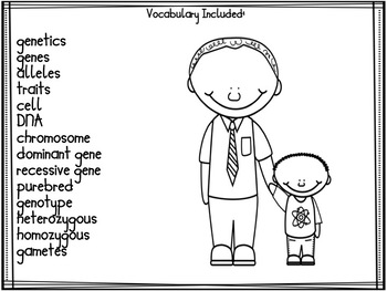 elementary biology genetics vocabulary word wall cards by