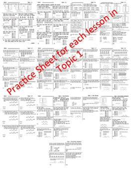enVision Math 2.0 Topic 1 Practice Sheets Grade 1 by