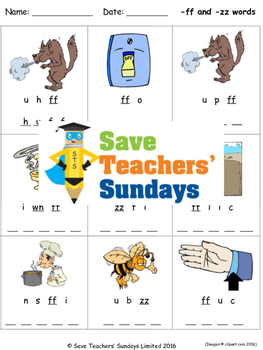 Ff And Zz Phonics Worksheets Activities And Other