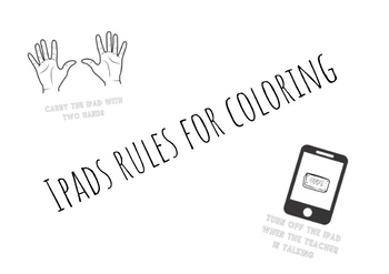 iPad rules printable and coloring sheets by Mercedes