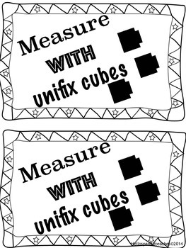 measuring book using unifix cubes by Hello Spanish Teaches