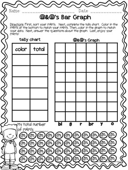 Bar Graph m&m's Activity FREEBIE by Thomas Teachable