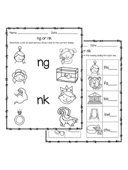 7 [pdf] PHONICS WORKSHEETS NG NK PRINTABLE HD DOCX