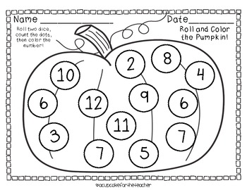 November Roll and Color {Free Printables} by A Cupcake for