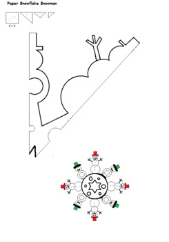 snowman snowflake pattern by Artistic Education Tools and