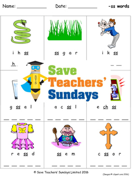 Ss Phonics Worksheets Activities And Other Teaching