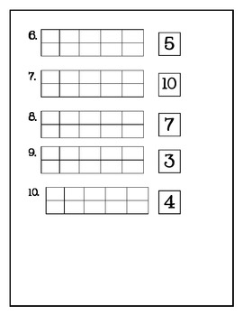 ten frame math for kindergarten {FREEBIE!} by Katie Miller