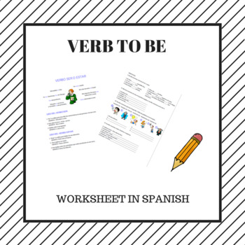 verb to be in Spanish / verbo ser o estar en español. by