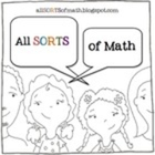 Math Talk Sentence Starter Posters and Bookmarks by All