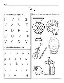5 Letter V Worksheets / Alphabet & Phonics... by Kelly
