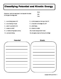 Kinetic And Potential Energy Worksheets Free Worksheets ...
