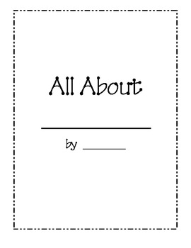 All About Books Expository Text Writing Frames by Handmade