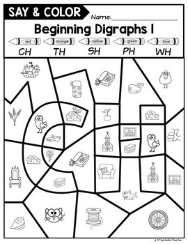 Color by Digraph Activities by A Teachable Teacher