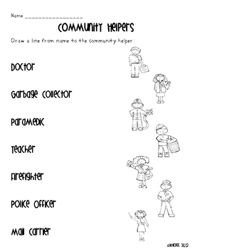 Community Helpers Activity Sheets by Creative Classroom