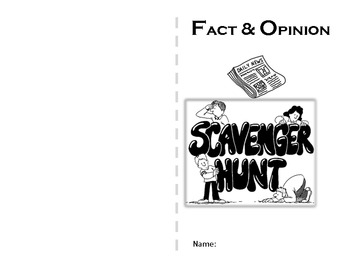 Fact and Opinion Scavenger Hunt mini-book by Sandy