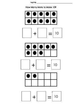 How Many More to Make 10? Ten Frame Addition by The