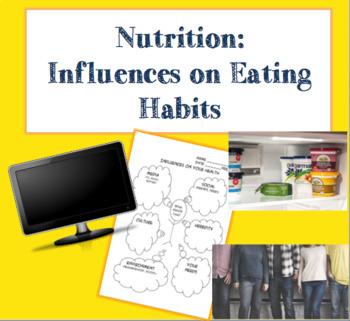 Influences on Eating Habits Worksheet by Geekology