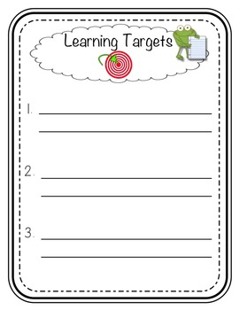 Learning Targets and Success Criteria Posters by Learning