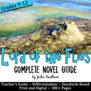 Lord of the Flies Literature Guide, Unit Plan, William Golding