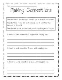 Making Connections Sheet - Printable Worksheet by Beth Van ...