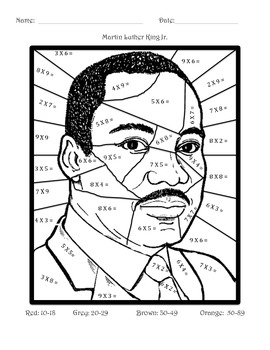 Martin Luther King Jr. Math: Multiplication by Miss Andres