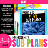 No Prep May Sub Plans for 3rd Grade & 4th Grade