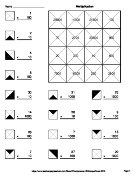All Worksheets » Multiples Of 10 And 100 Worksheets