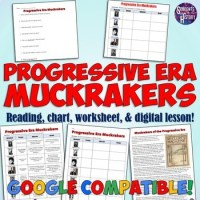 Progressive Era Muckrakers Chart and Worksheet by Students ...