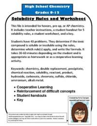 Solubility Rules Worksheet. Worksheets. Kristawiltbank ...