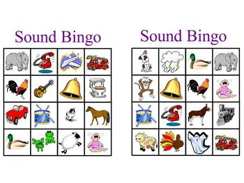 Sound Bingo Game by BRENT BENWARE  Teachers Pay Teachers