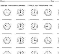 Telling Time to the Hour (10 worksheets)