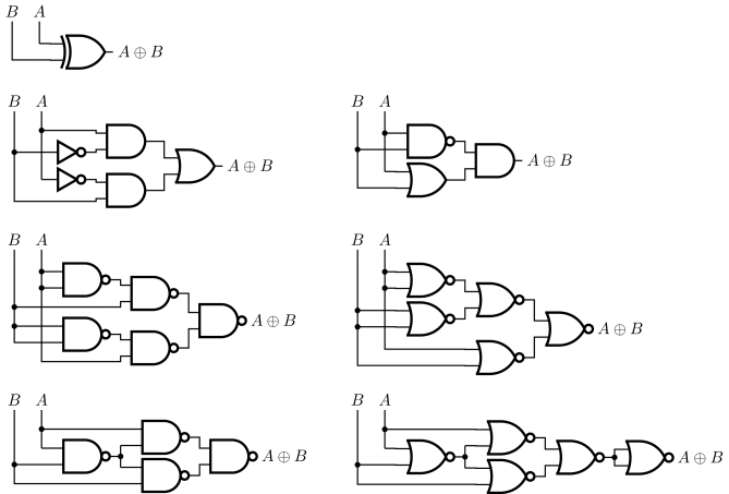 Circuit_macros Version 9.5: Examples of electric circuits
