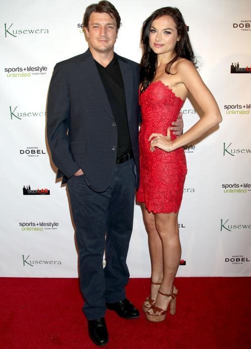 Christina Ochoa with her ex-fiance Nathan Fillion