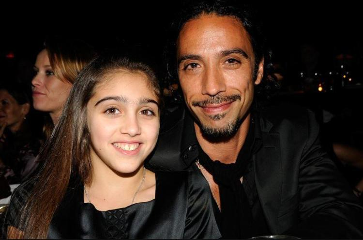 Lourdes with her father, Carlos Leon