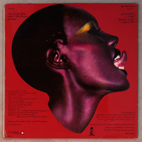 Grace Jones album back cover