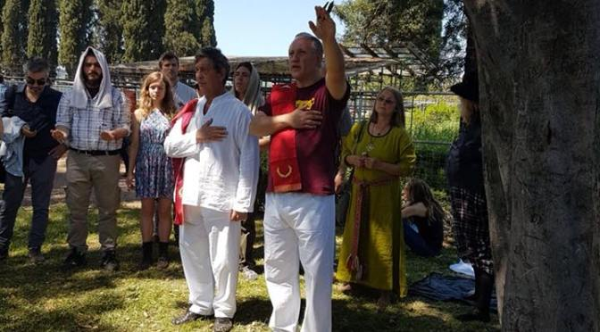 The Hellenic Ethnic Religion participation in the joint ritual on the Palatine Hill of Rome