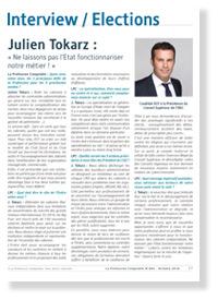 Interview de Julien Tokarz - La Profession Comptable N°404 - Octobre 2016
