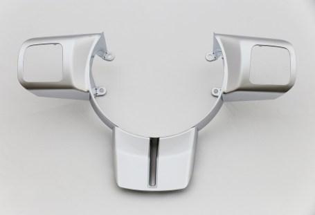 hexavalent chrome over pearl nickel steering wheel automotive