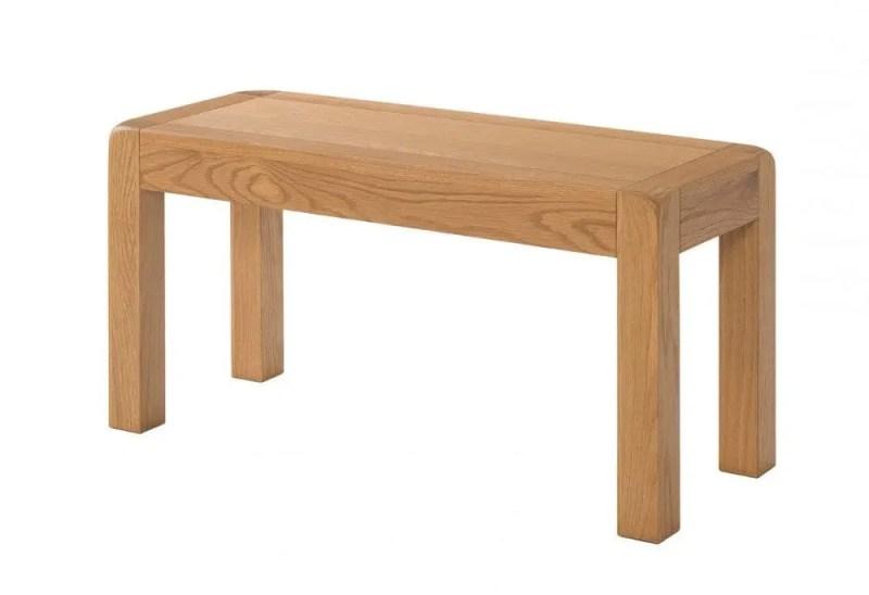 Avon oak 90cm small dining table bench DAV041