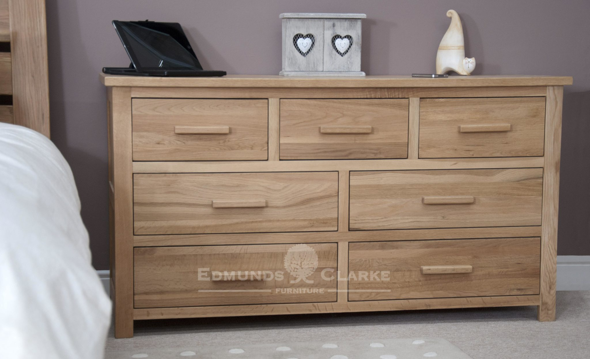 Bury Solid Oak Wide Chest Of Drawers