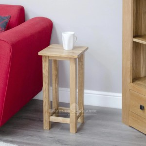 Bury Solid Oak occasional square lamp table