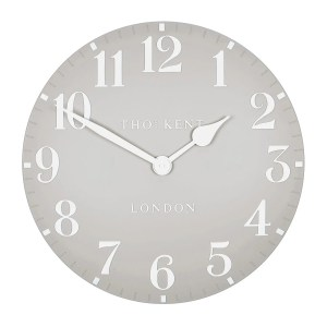 CK20156 Thomas Kent 20 inch Arabic. colour Dove Grey with white hands and numbers