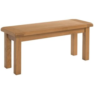 Somerset Oak 90cm Bench. Contemporary shaker style with clean lines and wax feel. sits perfect with Somerset dining tables. other sizes available,SOM090