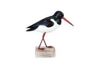 Archipelago Oyster Catcher Down Wood Carving D207 Black and white hand carved and painted
